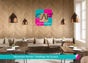 Cap' Signalétique Brochure habillage de surface